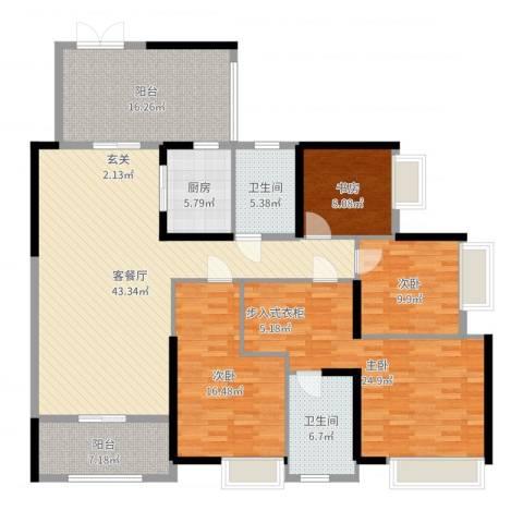 保利生态城4室2厅2卫1厨201.00㎡户型图
