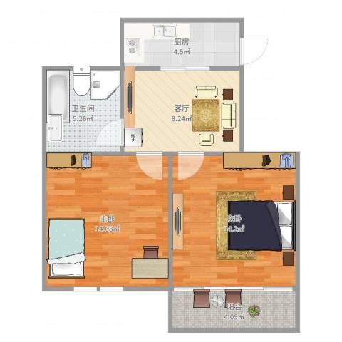 解放新村22室1厅1卫1厨63.00㎡户型图