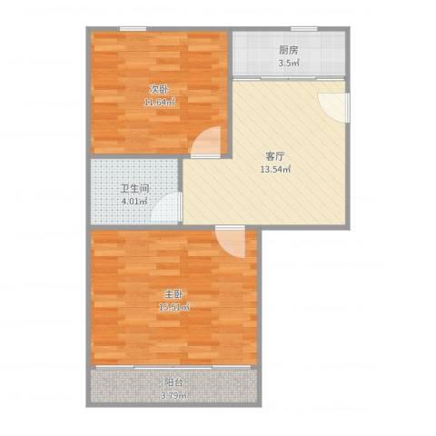 解放新村22室1厅1卫1厨65.00㎡户型图
