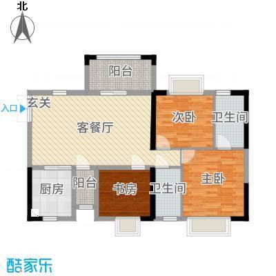雅居蓝湾104.53㎡博雅轩04户型3室3厅2卫1厨