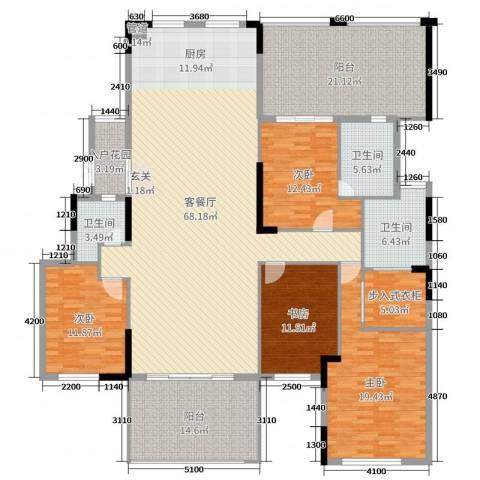 劲嘉金棕榈湾4室2厅3卫0厨191.00㎡户型图