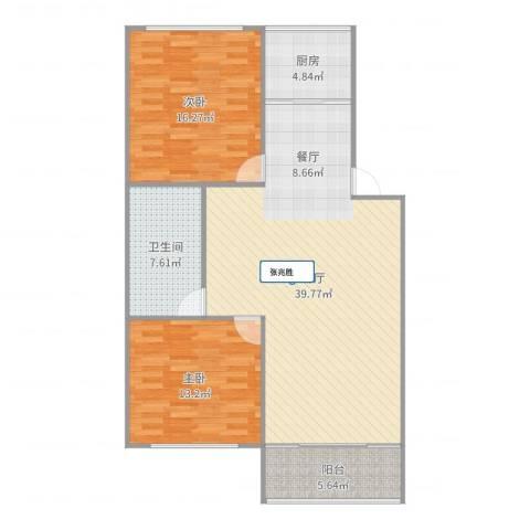 周庄新园2室1厅1卫1厨109.00㎡户型图