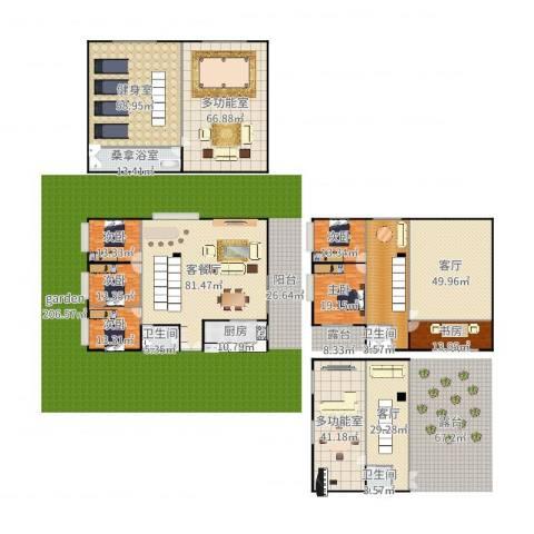 恒大山水城别墅6室4厅3卫1厨600.00㎡户型图