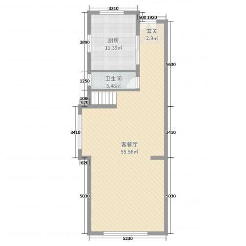 万科珠江东岸2厅1卫1厨165.00㎡户型图