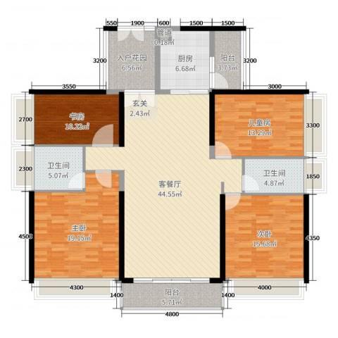 珑・翠4室2厅2卫1厨162.00㎡户型图