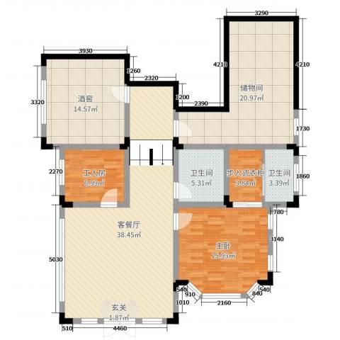 华侨花园1室2厅2卫0厨333.00㎡户型图