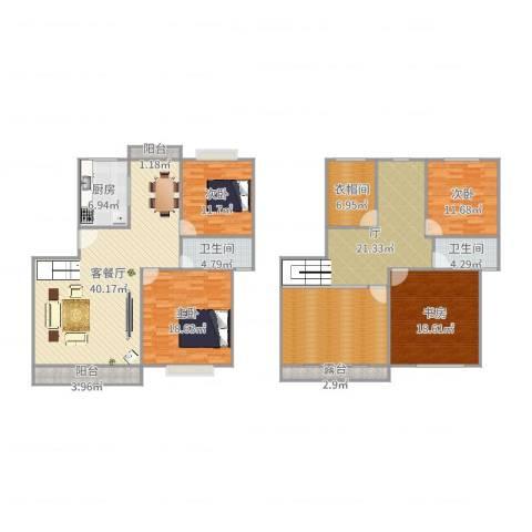 三湘雅苑4室2厅2卫1厨214.00㎡户型图