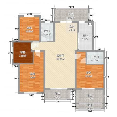 泰安盛世4室2厅2卫1厨158.00㎡户型图