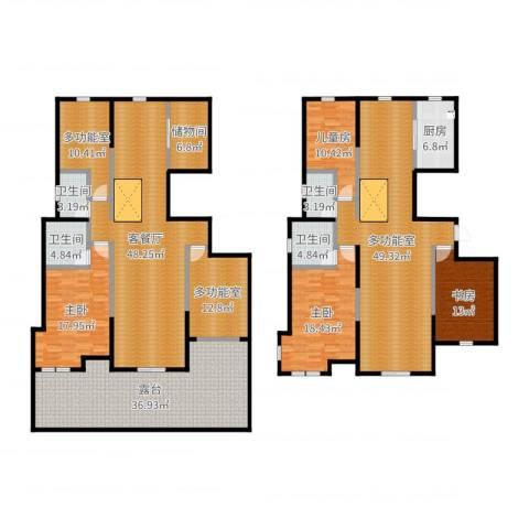 山南小镇4室2厅4卫1厨309.00㎡户型图