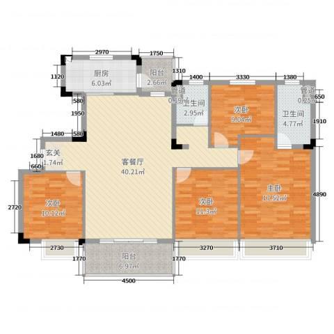 九江碧桂园4室2厅2卫1厨140.00㎡户型图