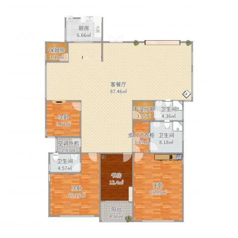 白桦林间4室2厅3卫1厨248.00㎡户型图