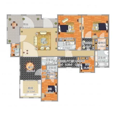 欧式-金域蓝湾5室2厅4卫1厨403.00㎡户型图
