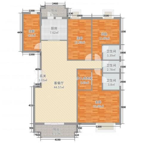 水口雅乐苑4室2厅3卫1厨162.00㎡户型图