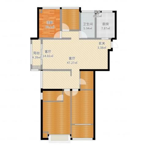 世茂君望墅1室1厅1卫1厨155.00㎡户型图