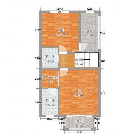 东紫园2室0厅2卫0厨195.00㎡户型图