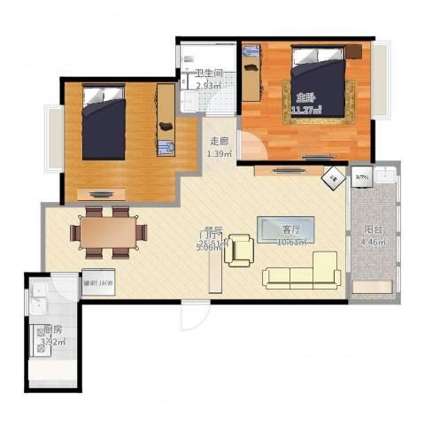 祥生瑞和苑1室1厅1卫1厨73.00㎡户型图