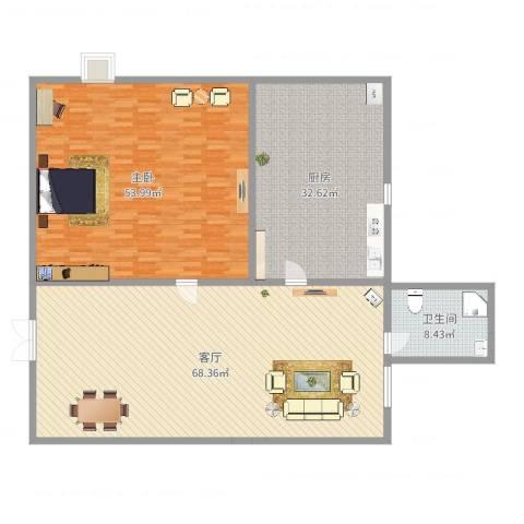 都林龙苑1室1厅1卫1厨204.00㎡户型图