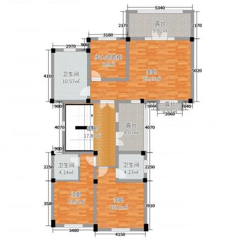 亚特兰蒂斯黄金时代3室0厅3卫0厨502.00㎡户型图