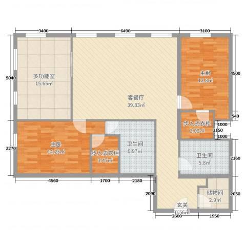 万国城MOMA2室2厅2卫0厨148.00㎡户型图