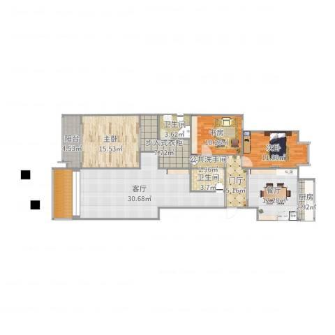 新怡家园3室2厅2卫1厨143.00㎡户型图