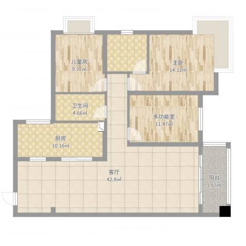 和园小区2室1厅1卫1厨130.00㎡户型图