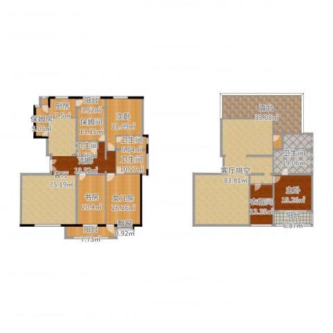 建投十号院3室1厅4卫1厨471.00㎡户型图