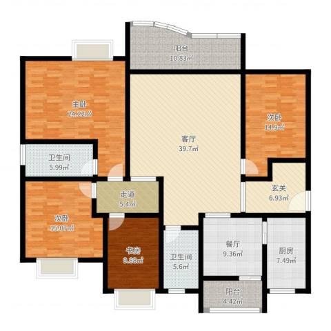 美堤雅城(二期)4室2厅2卫1厨200.00㎡户型图