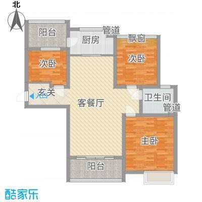 东台碧桂园119.00㎡一期精装洋房J472-C户型3室3厅1卫1厨