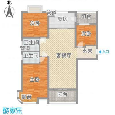 东台碧桂园135.00㎡J472T-A户型3室3厅2卫1厨
