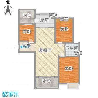 东台碧桂园124.00㎡J472T-C户型3室3厅1卫1厨