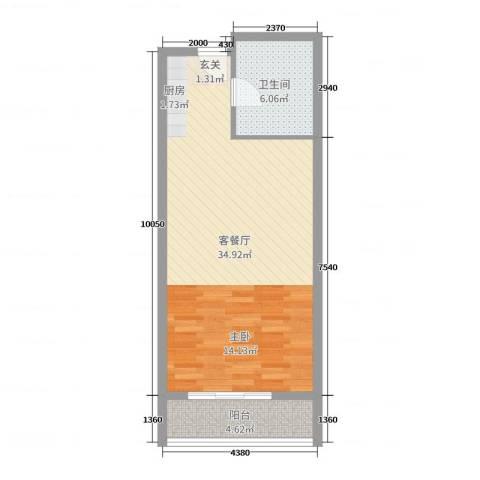 城南印象生活广场2厅1卫0厨57.00㎡户型图