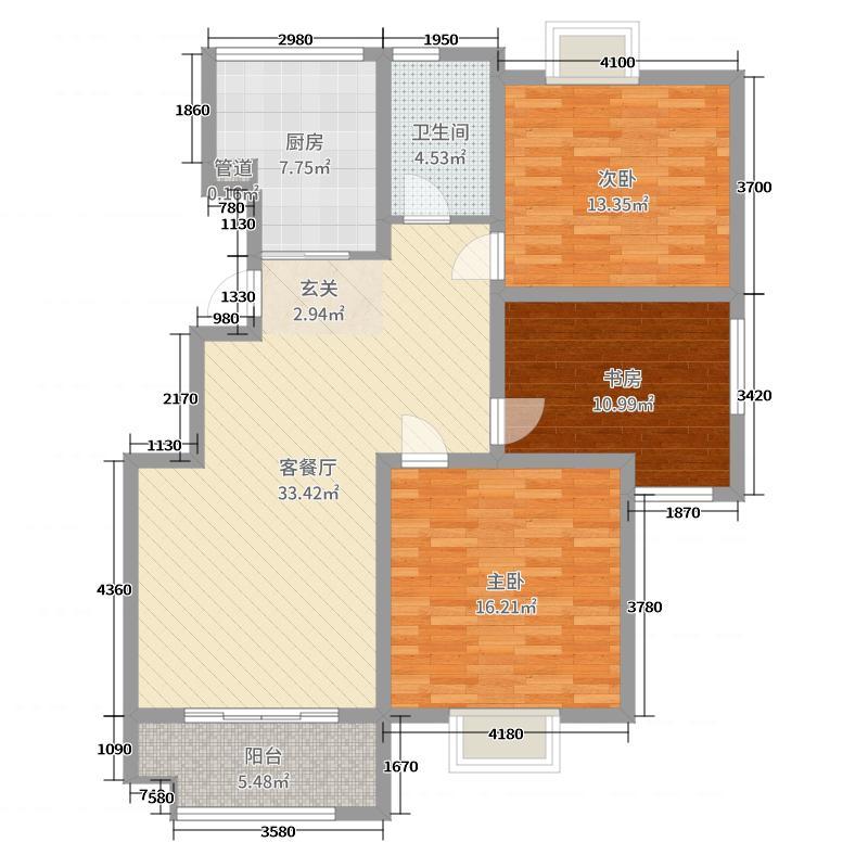 隆源・城市之星115.00㎡G2户型3室3厅1卫1厨
