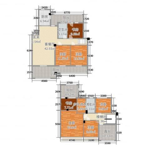 世纪金都7室2厅2卫1厨210.86㎡户型图