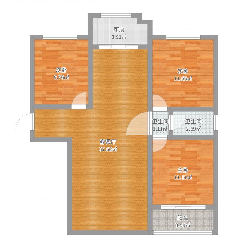 太岳帝京9号楼一单元东户