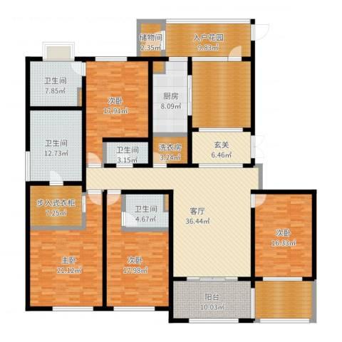 金鹰国际公馆4室1厅4卫1厨259.00㎡户型图