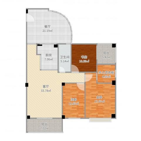 龙翔御景1#18033室2厅1卫1厨156.00㎡户型图