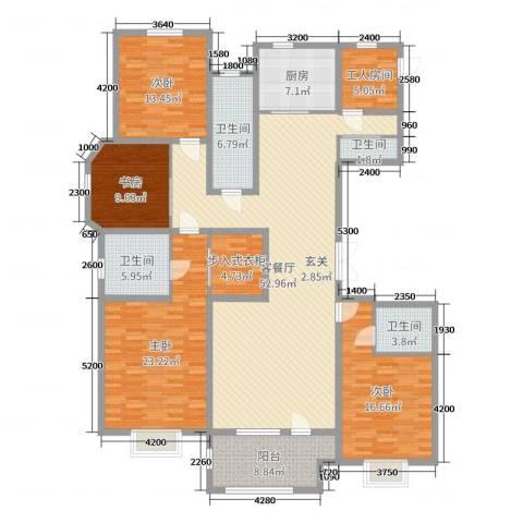 百岛绿城4室2厅4卫1厨219.00㎡户型图