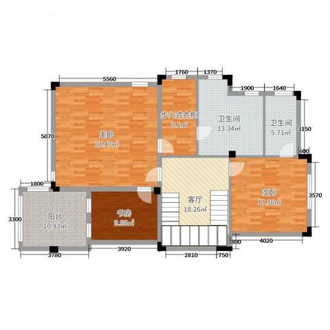 佛冈奥园温泉别墅3室1厅2卫0厨323.00㎡户型图