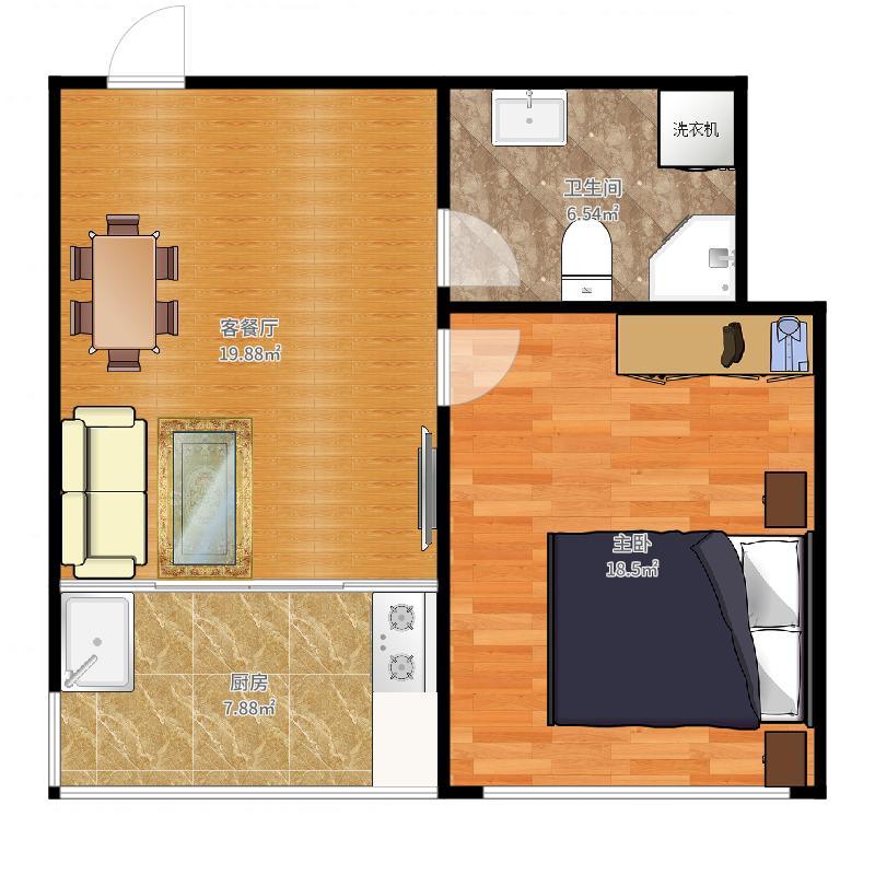 1室1厅卫