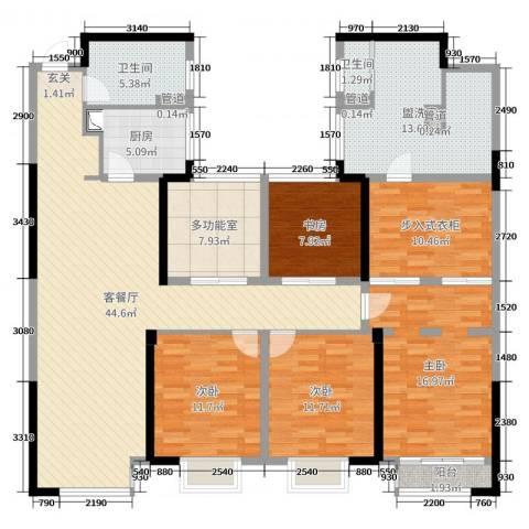 百大康桥4室2厅2卫1厨174.00㎡户型图