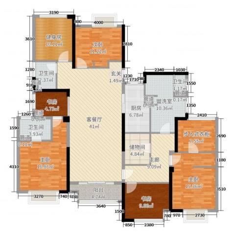 百大康桥5室2厅3卫1厨202.00㎡户型图