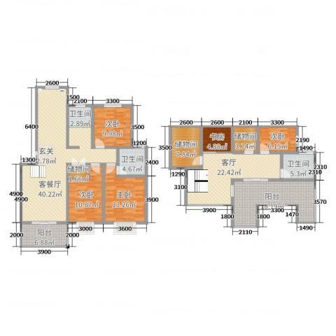 天泽水岸5室3厅3卫0厨164.00㎡户型图
