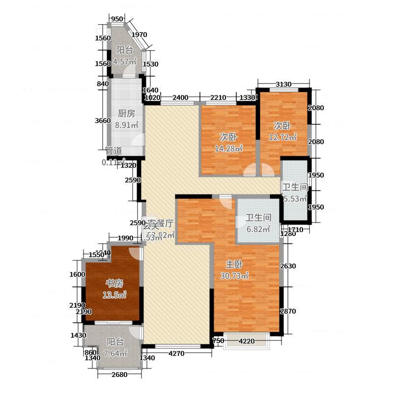 恒大城198.31㎡0527(45-02)户型3室3厅2卫1厨