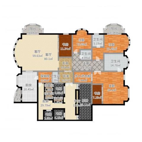 哈公馆5室1厅4卫1厨394.00㎡户型图