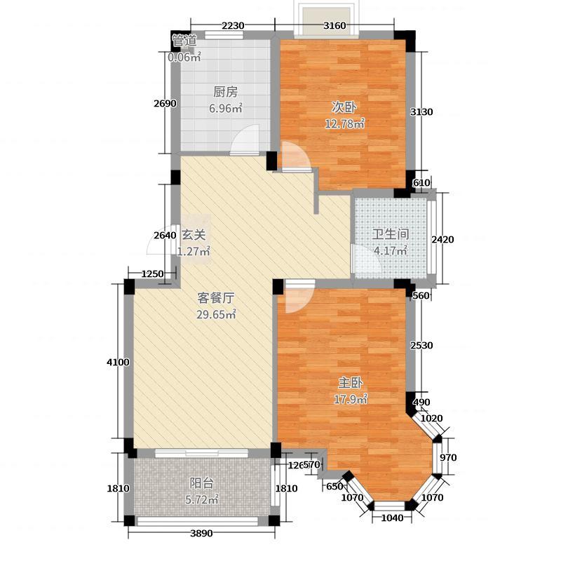 钜和天乐苑120.00㎡B1户型3室3厅2卫1厨
