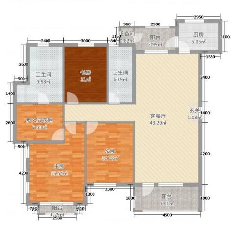 普罗旺斯3室2厅2卫1厨155.00㎡户型图