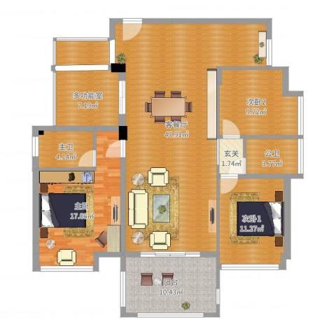水映山1室2厅2卫2厨145.00㎡户型图