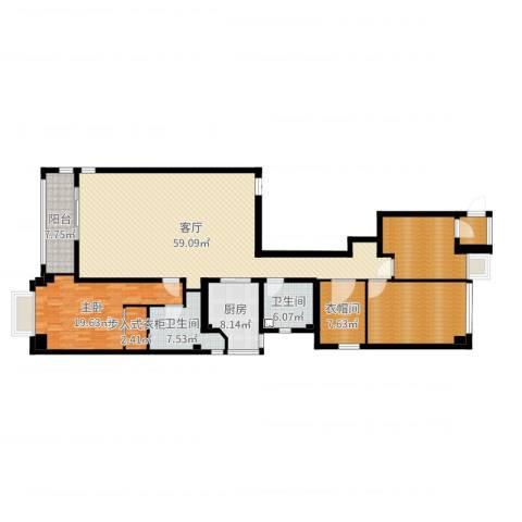 御翠园1室1厅5卫2厨186.00㎡户型图