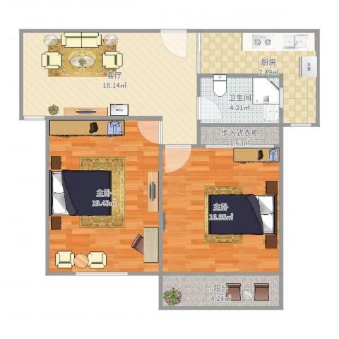 浦江东旭公寓2室1厅1卫1厨90.00㎡户型图