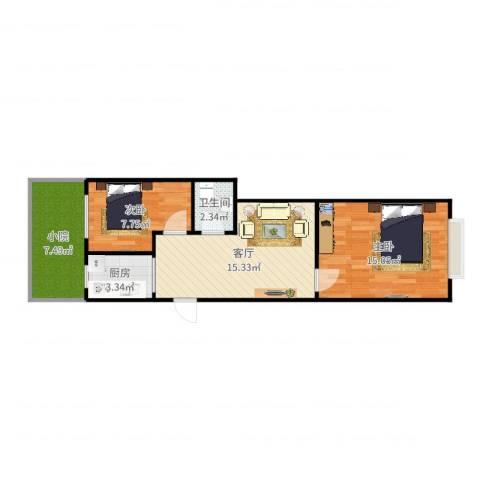 卫华里20-1042室1厅1卫1厨64.00㎡户型图